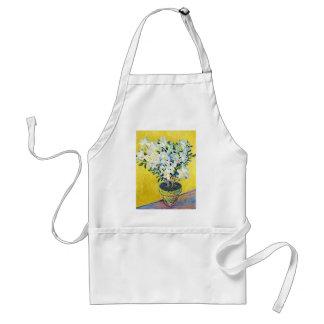 White Azaleas in a Pot Claude Monet Aprons