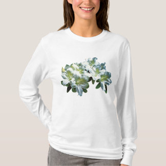 White Azaleas Ladies T-Shirt