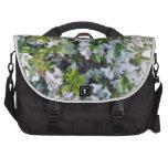White Azaleas Laptop Messenger Bag