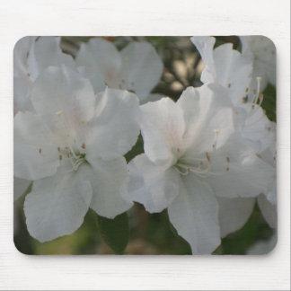 White Azaleas Mouse Pad