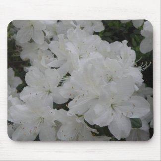 White Azaleas Mousepad mousepad