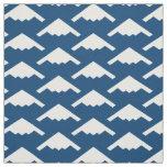White B-2 Spirit Stealth Bomber Pattern on Blue Fabric
