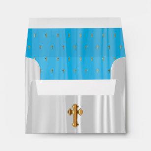 baby blue baptism envelopes zazzle