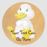 White Baby Duckling Stickers