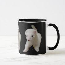 White Baby Ferret Mug