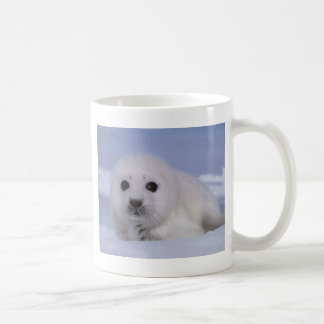 white baby seal coffee mug
