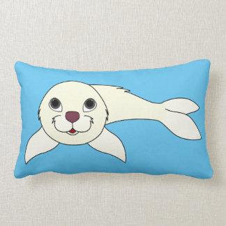 White Baby Seal Lumbar Pillow