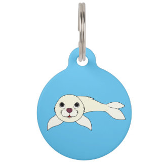 White Baby Seal Pet ID Tag