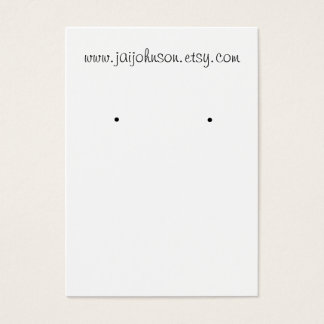 White Background Earring Cards
