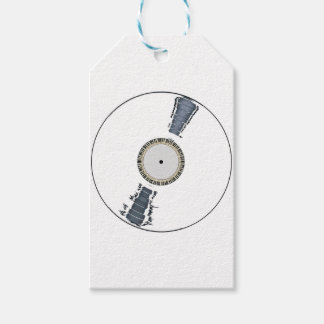 White Background Record Gift Tags