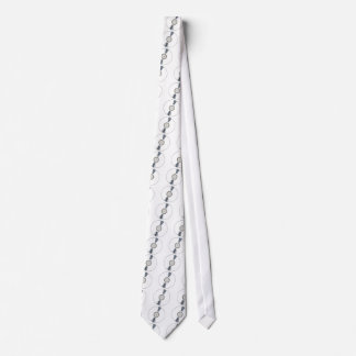 White Background Record Neck Tie