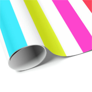 white background with colorful stripes wrapping paper