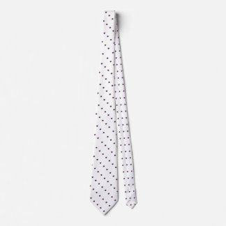 white background with diagonal rows of black spots neck tie