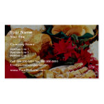 White Baked goods flowers Double-Sided Standard Business Cards (Pack Of 100)