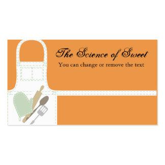 white baking apron oven mitt utensils business ... business card