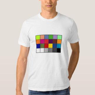 White Balance Color Chart Tee Shirts