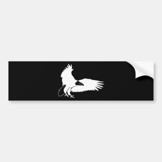 White Bald Eagle Swooping In For A Kill Bumper Sticker