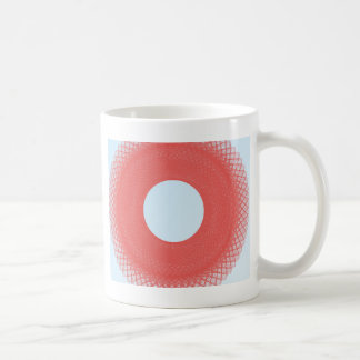 white ball radiate pink  light coffee mug