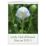 White Balloon Flower /humorous Text Card at Zazzle