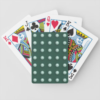 White Balls On Teal Green Background Chic Pattern Poker Cards