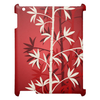 White bamboo red case for the iPad 2 3 4