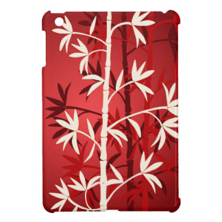 White bamboo red cover for the iPad mini
