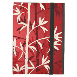White bamboo red iPad air case