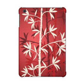 White bamboo red iPad mini case