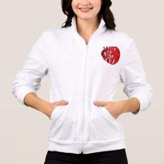 White bamboo red jacket