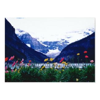 White Banff National Park, Lake Louise flowers 5x7 Paper Invitation Card