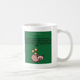 White Bank Humor Coffee Mug (2-Sided)