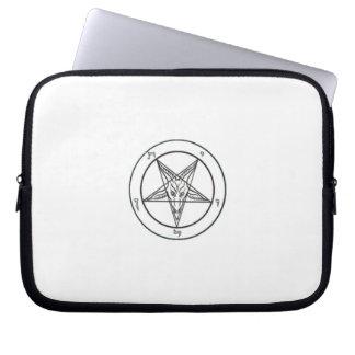 White Baphomet Laptop Sleeve