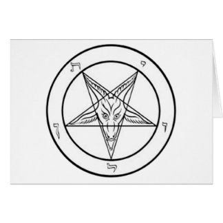 white baphomet pent GRAPHIC Card