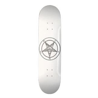 White Baphomet Skateboard