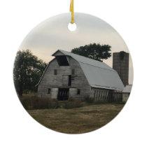 White Barn Ornament
