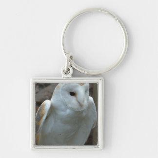 White Barn Owl Keychain