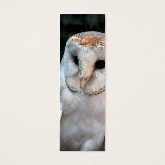 White Barn Owl Mini Business Card