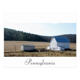 white barn postcard