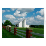 White Barn. White Fence. Card