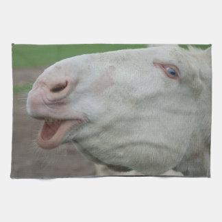 White Baroque Donkey Towel