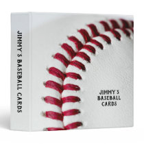 White Baseball Close-Up Card Collector 3 Ring Binder