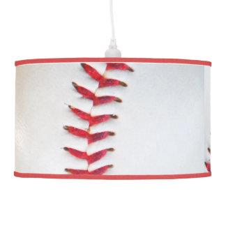 White Baseball red stitching Ceiling Lamp