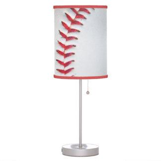 White Baseball red stitching Desk Lamp