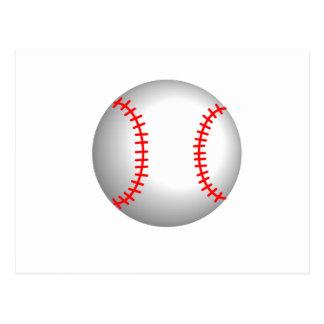 White Baseball Red Stitching Postcard