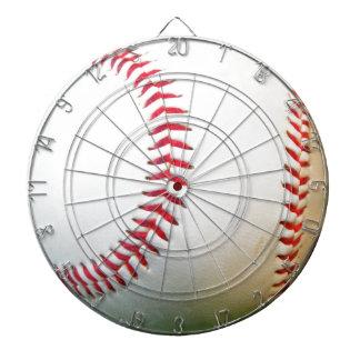 White Baseball with Red Stitching Dart Board