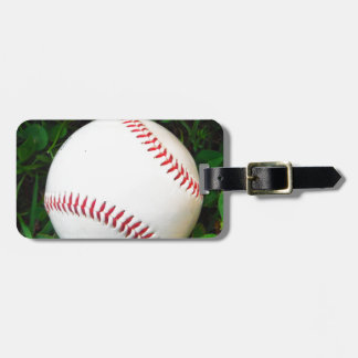 White Baseball with Red Stitching Luggage Tags