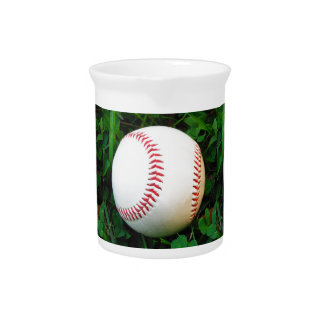 White Baseball with Red Stitching Beverage Pitchers