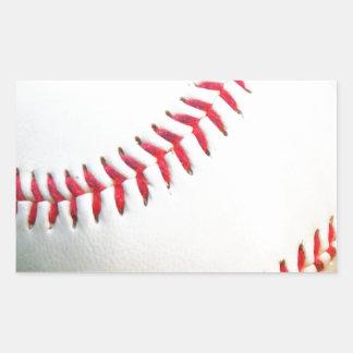 White Baseball with Red Stitching Rectangular Sticker