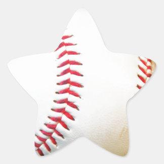White Baseball with Red Stitching Star Sticker