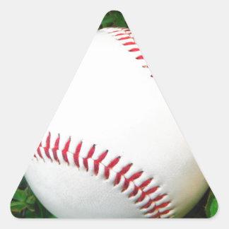 White Baseball with Red Stitching Triangle Sticker